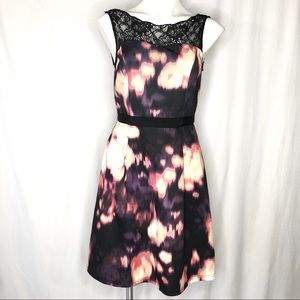 Lovely by Adrianna Papell Watercolor Print Dress